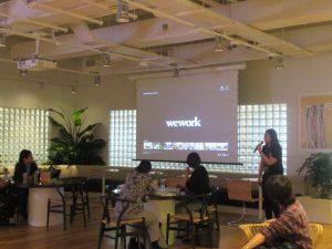 weworkとibbの合同交流会にて、weworkの紹介